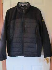 NWT Men's XBLK by Zeroxposur 100% Polyester Dark Blue Zip Up Jacket Size S