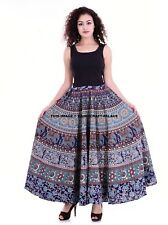 Fashion Women Skirt Mandala Print Bohemian Beach Maxi Long Waist Skirts Dresses