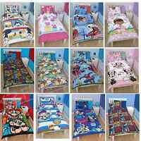 Kids Children Bedding Single Disney Duvet Quilt Cover Set Boys Girls 50+ Designs