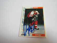 AUTOGRAPH  1992-93 SCORE ERIC  LINDROS -FLYERS