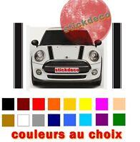 """SET DE BANDES POUR MINI COOPER """"STRIPES DECO AUTO STICKER AUTOCOLLANT NOIR++"""