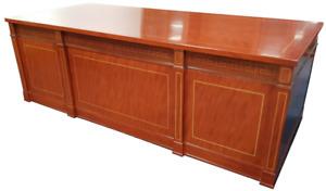2.4m Wide Large Twin Pedestal Mahogany Executive Office Desk Desk Regency Repro