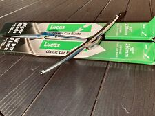 Stainless Steel Wiper Blades 10 Inch Lucas Boxed with 7mm Bayonet Fix Mgb