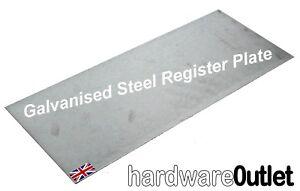 BLANK CHIMNEY REGISTER PLATE 1.5 mm Galvanised Steel  Log Burner Fireplace