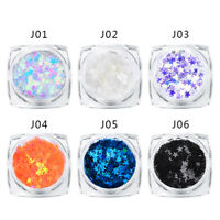 MTSSII 1g Holographic Nail Art Glitter Sequins Five Angle Stars Flakes Tips DIY
