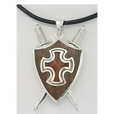 Gothic Renaissance Vintage Silver Wood Snake Collectable Cross Shield
