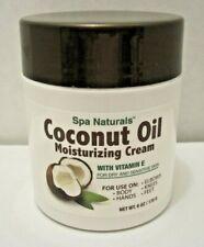 Coconut Oil Moisturizing Cream Vitamin E/Dry Sensitive Skin/Spa Naturals/6 oz