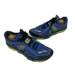 Brooks Pure Grit Mens Shoes Size 10 Trail Running Sneakers hike green blue