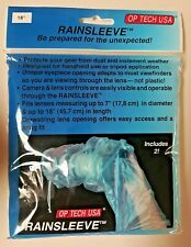 "Rainsleeve 18"" Pack of 2 OP/TECH USA Clear Lens Protection Cover Sealed NIB"