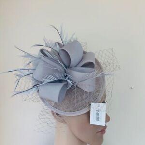 NEW Grey mesh Headband Fascinator Wedding Ladies Race Day Fashion