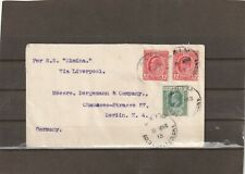 Gold Coast AXIM SHIP POST COVER to Germany 1913