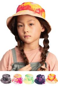 ScarvesMe C.C Children Girls Boys 2-9 Year Reversible Tie Dyed Cotton Bucket Hat