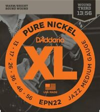 D'Addario Epn22 Pure Nickel Electric Guitar Strings, Jazz Medium, 13-55