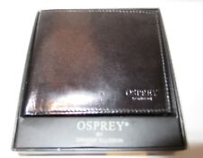 £85 men's wallet OSPREY Leather Gift Set New box Fathers BROWN summer