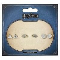 New Official Genuine Harry Potter Silver Plated Stud Set