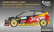 DECALS 1/43 FORD FIESTA WRC - #21 - PROKOP - RALLYE DE FRANCE 2014 - D43356