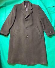 Hardwick Wool Blend Brown 3 Button Classic Top Coat 46 Regular NWT