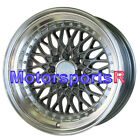 XXR 536 16 x8 +0 Gunmetal Mesh Deep Dish Step Lip Wheels Rims 4x114.3 Hellaflush