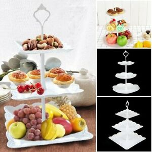 3 Tier Tableware Serving Tray Shelf Dessert Plate Cake Cup Display Holders Stand