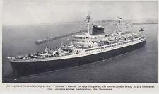 1953  --  UN PAQUEBOT DE MEDITERRANEE   LA VILLE D ALGER   3G758