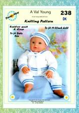 """DOLLS KNITTING PATTERN **no 238** for 19""""/20"""" size doll.  by ( Daisy-May.)"""