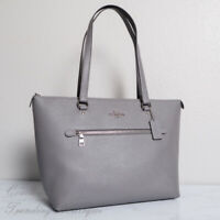 NWT Coach F79608 Crossgrain Leather Gallery Tote in Heather Grey