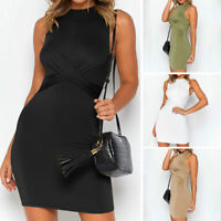 Women's Sexy Bodycon Sleeveless Evening Party Cocktail Club Short Mini Dress