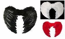 Feather Angel Wings Christmas Halloween Fancy Dress Costume Bird Hen Night Party