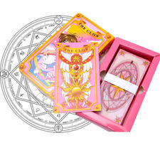 Anime Cardcaptor Sakura Star Clow Cards 52 Pink Magical Cards Set Cosplay Gift