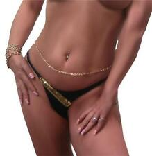 Tempting Thick Belly Chain or Necklace  Yellow GOLD gep Scroll Twist Link long