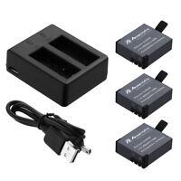1400mAh Li-ion Battery & Dual Charger For SJCAM SJ4000 SJ5000 SJ6000 Camera
