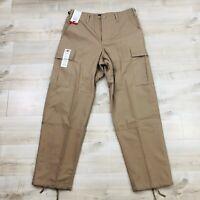 NWT TRU-SPEC Men Pants Polyester Cotton Rip Stop BDU Pant Khaki Tan Size Medium