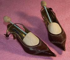 BELMONDO ♥ Sling Pumps ♥ Schuhe ♥ Gr. 39 ♥ *TOP* ♥ Glatt Leder ♥ Pfennigabsatz ♥