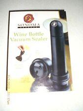 New listing Sonoma Reserve Wine Bottle Vacuum Sealer New in Box
