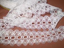 Eyelet/knitting in/coathanger lace 5 metres x 4cm wide white/silver edging