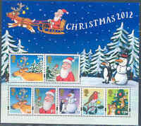 GREAT BRITAIN 2012 CHRISTMAS SHEET OF SEVEN STAMPS