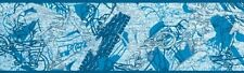 BLUE GRAPHICS GRAFFITI KIDS TEENAGE BOYS GIRLS  WALLPAPER  BORDER  30590