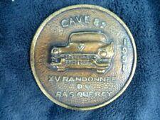 Cadillac : plaque bronze XV randonnée du Bas Quercy 1991. Club CAVE 82