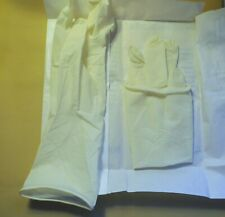 LONG LATEX RUBBER SURGICAL GLOVES POWDERED SIZE 7