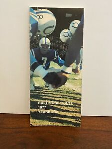 Baltimore Colts 1977 YEARBOOK (Press, Radio & TV GUIDE)
