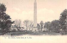 c.1905 Obelisk Central Park New York Ny post card Rotograph