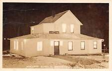 GRANDVIEW, JACKSON COUNTY, MO, WYCKOFF CLINIC AT NIGHT, REAL PHOTO PC used 1943