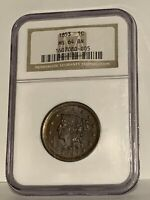 1853 NGC MS 64 BN Braided Hair Large Cent Coin 1c