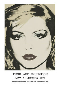 "BLONDIE, 12"" x 17"" Promo Poster, 1978 Punk Art Exhibition, Debbie Harry"