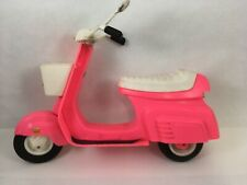 Vintage Barbie Moped Scooter Pink Bike Vehicle 1980s Barbie Accessory