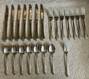 22 Pieces ONEIDA BITTERSWEET / REPOSE Stainless flatware lot