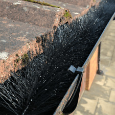 BEST QUALITY GUTTER BRUSH GUARD FILTER PROTECTION 4 METERS X 100mm BLACK