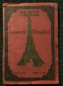 Paris Monumental Metropolitan map guide