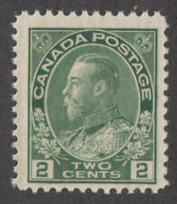 Canada #107 MNH 1922 George V Admiral 2c yellow green cv $60