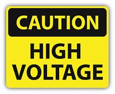 "Caution High Voltage Sign Warning Car Bumper Sticker Decal 5"" x 4"""